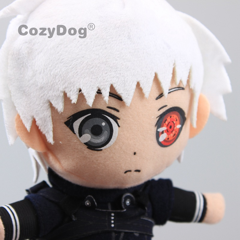 New Anime Tokyo Ghoul Cosplay One Eye Kaneki Ken Soft Plush Doll Toy 30cm Gift