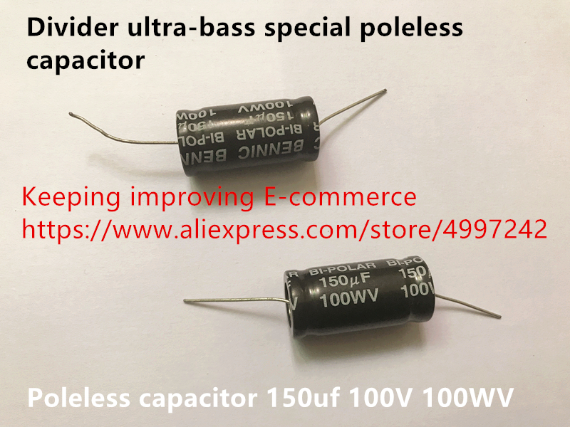 Original new 100% import divider ultra-bass special poleless capacitor <font><b>150uf</b></font> <font><b>100V</b></font> 100WV (Inductor) image