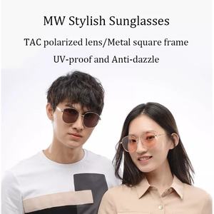 Image 2 - Newest MW Polarized Sunglasses Metal Square Frames Stylish UV proof Anti dazzle Sunglasses Outdoor Men Women Sunglasses