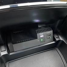 10 w 자동차 qi 무선 충전기 전화 충전기 충전 케이스 액세서리 메르세데스 벤츠 w205 glc c 클래스 amg c43 c63 아이폰 8