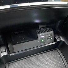 10W samochodów bezprzewodowa ładowarka QI ładowarka do telefonu etui z funkcją ładowania akcesoria dla Mercedes Benz W205 AMG C43 C63 GLC43 GLC63 X253 klasy C