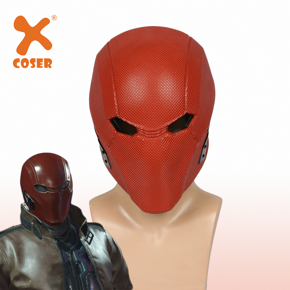 XCOSER Injustice League 2 Red Hood Full Head Helmet Game Cosplay Props Resin Full Face Mask Halloween Costume Accessories Mask