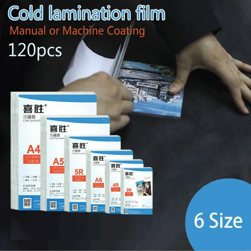 Fotográfica e Máquina Tamanho Pces Laminação Fria Filme 7 5 Polegada a4 Pvc Transparente Mão Manual Espécime Adesivos 6 120