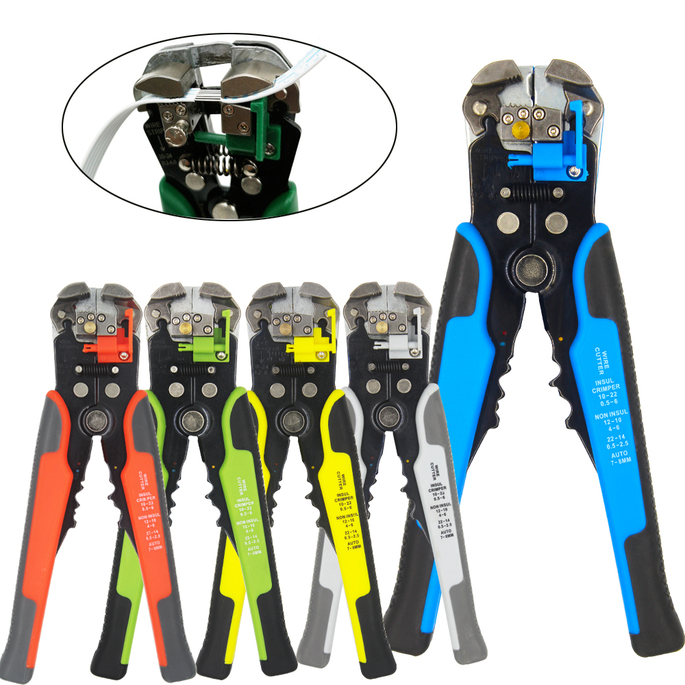 HS-D1/D2 Crimper Cable Cutter Automatic Wire Stripper Multifunctional Stripping Tools Crimping Pliers Terminal 0.2-6.0mm2 Tool