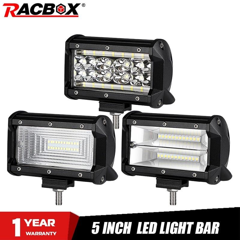 Watt 5D LED Work Light Bar 12V 24V Flood Spot Combo Beam Offroad Lamp All Size