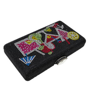 Image 4 - Boutique De FGG Bolso De mano con cristales deslumbrantes para mujer, cartera De mano para cócteles, boda, fiesta, novia