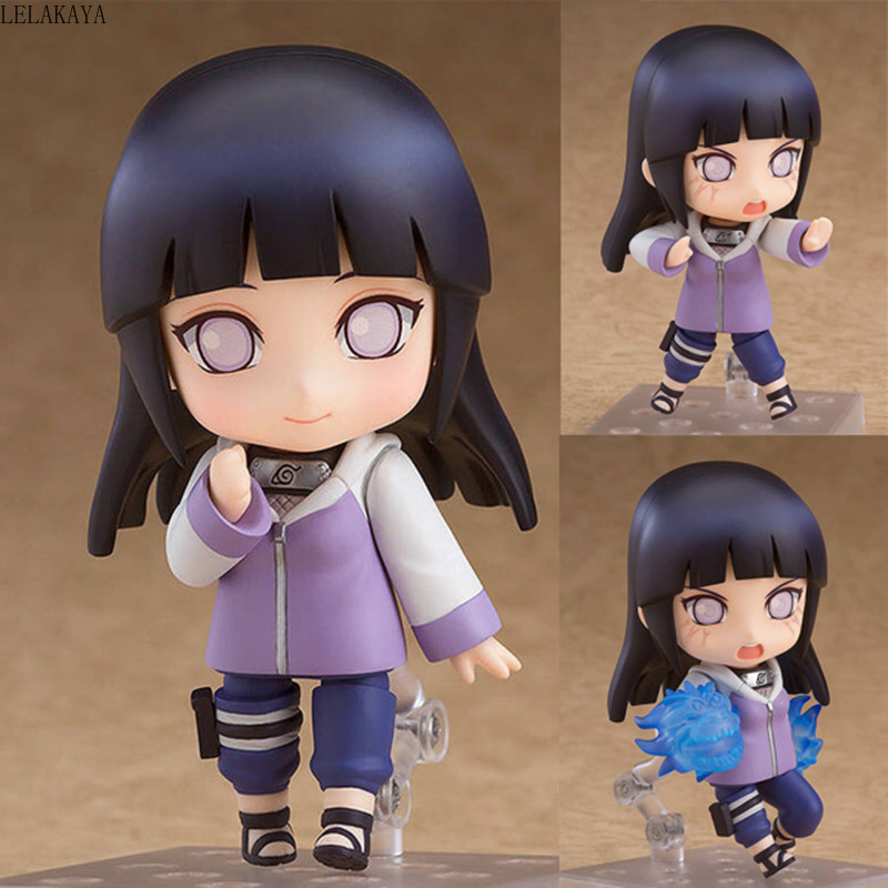 10cm Mini Cute Anime Character Naruto Shippuden 879 Hinata Hyuga Changeable Ver. PVC Action Figure Collection Model Cartoon ToysAction & Toy Figures   -