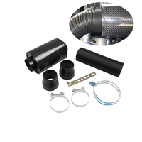 Auto Accessories Carbon Fiber Intake Bellows Set Intake High Flow Car Air Filter Set Suitable for All Car Models Car Replacement