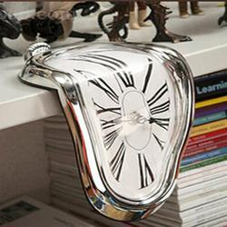 Surrealistyczne stopiony skręcony zegar ścienny Salvador Dali stylizowany zegar niesamowite dekoracje do domu na prezent