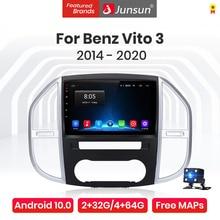 Junsun V1 Pro 4G Android 10.0 4G+64G Car Radio Multimedia Player For Mercedes Benz Vito 3 2014 - 2020 GPS Navigation no 2din dvd