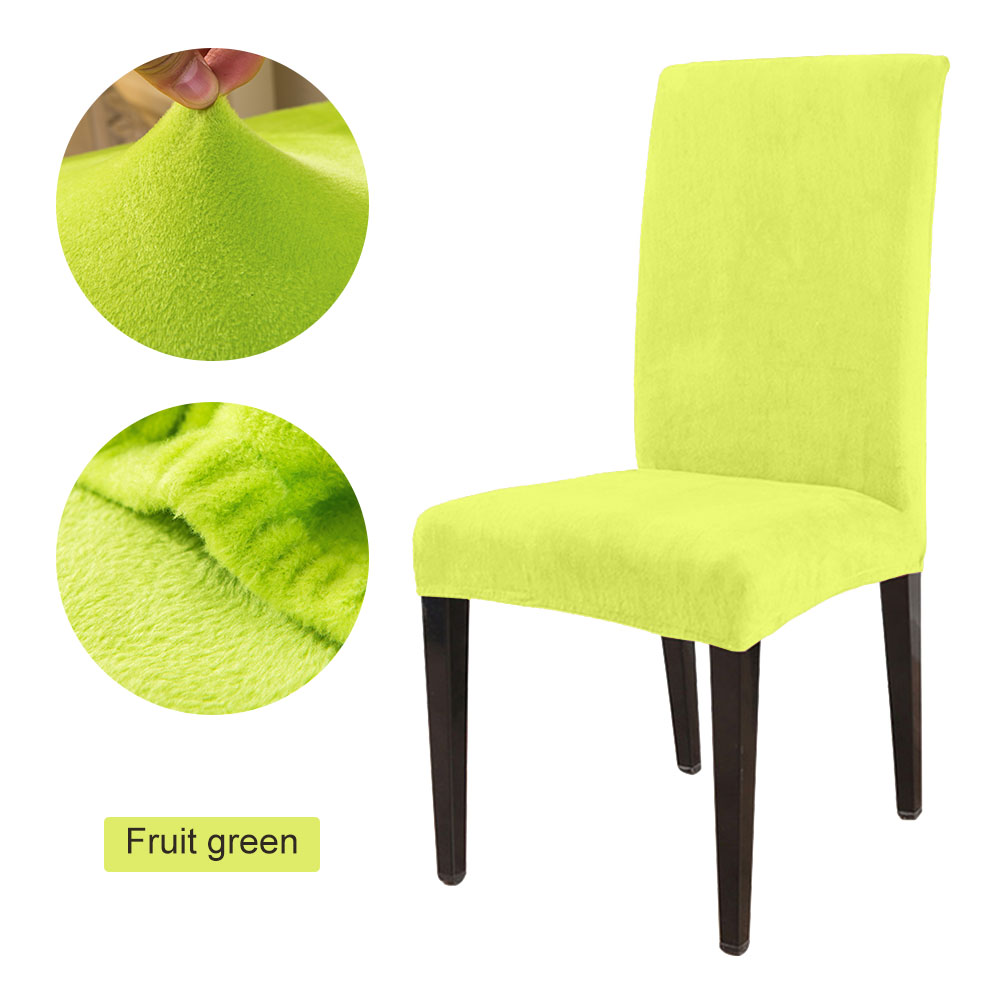 1 to 6 Pcs Removable Chair Cover Made with Stretchable Thick Plush Material for Banquet Chair 28