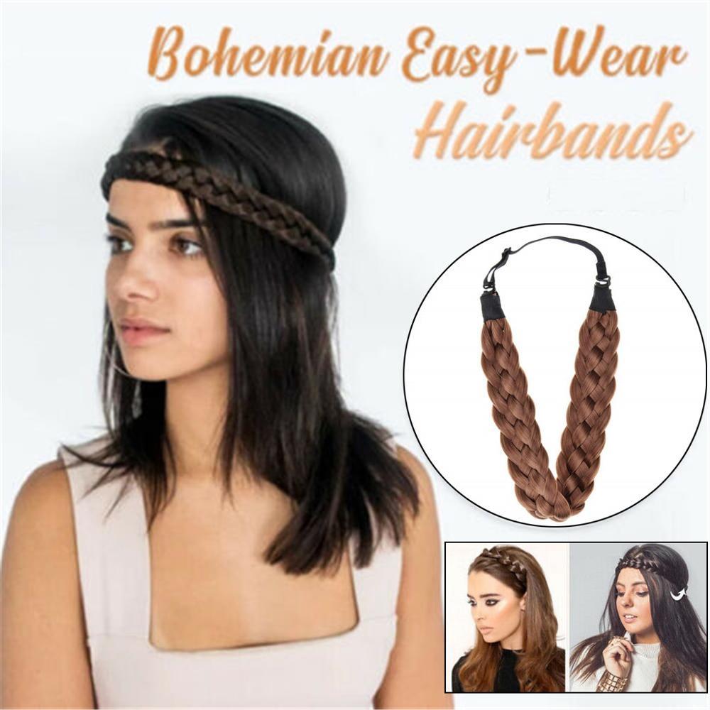 Braid Hair Band Fashion Synthetic Wig Hair Band Elastic Headband Princess Hair Hairbands For Women Girls  Hair Accessories
