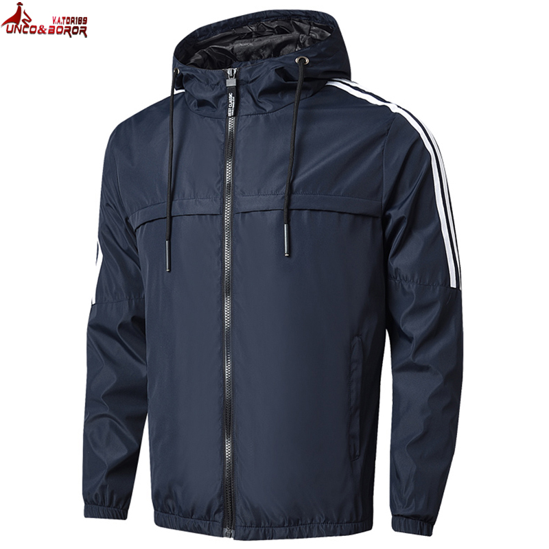 Big Size 7XL 8XL Autumn Casual Bomber Jacket Men Windbreaker Hooded Coat Outwear Streetwear Hip Hop Jacket Male Brand Clothing