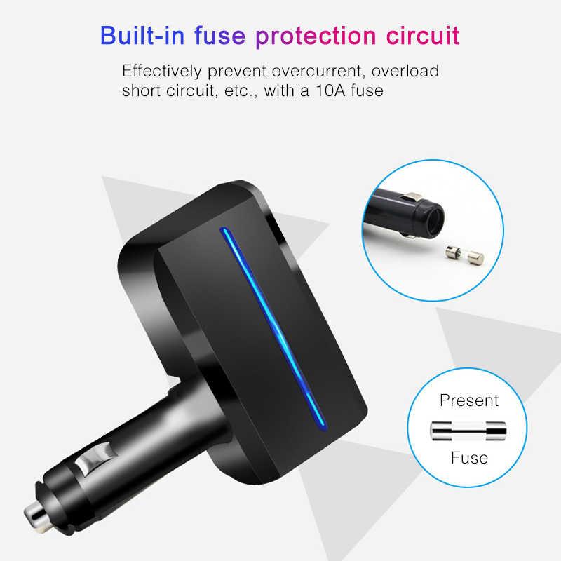 유니버설 2 가지 방법 자동차 자동 담배 라이터 분배기 소켓 전원 어댑터 120W 5V 3.1A 듀얼 USB 차량용 충전기 LED 빛