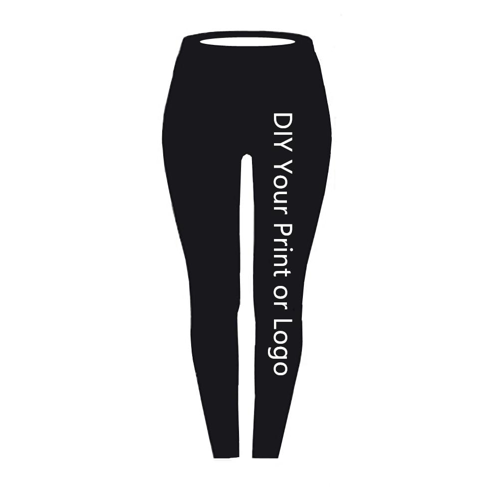 Customized Print Leggings DIY Your Photo Or Logo Elastic Fitness Leggings Casual Leggings 3D Digital Printing Process