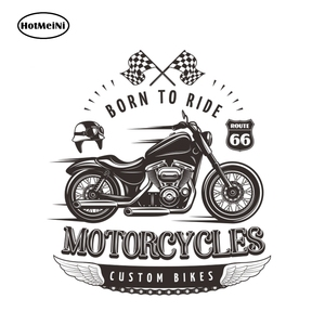 HotMeiNi 13cm x 11.9cm Born To Ride Decal Personality Motorcycles Vinyl Sticker Funny Car Sticker Window Bumper Laptop Decals