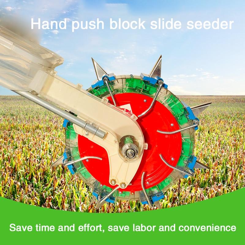 Agricultural Multi-function Hand-push Seeder, Corn, Cotton, Soybean Peanut Planter, Film-pressing Machine