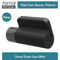 Original 70mai mini traço cam 70mai mini gravador de carro 1600 p visão noturna superior livre wifi mini carro dvr app controle multi dvr