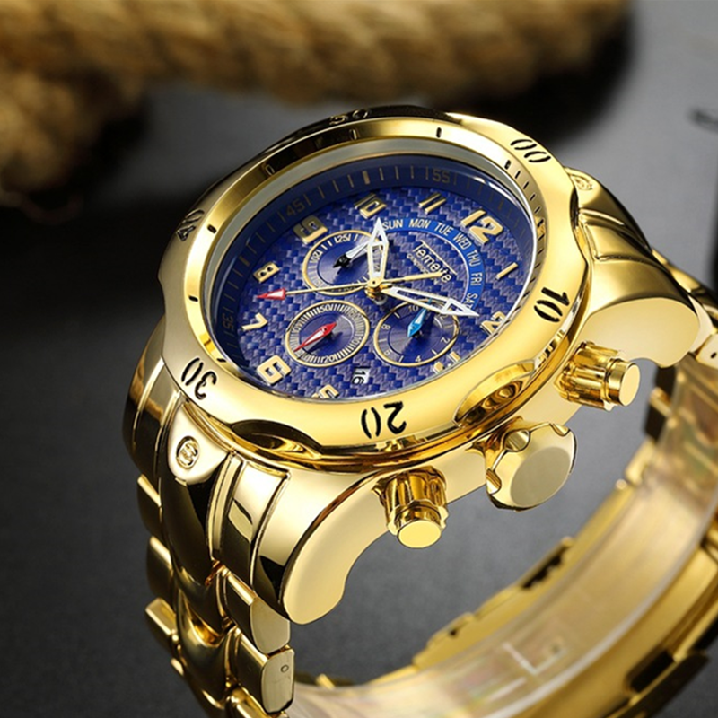 TEMEITE Relogio Masculino Watch Men Fashion Gold Mens Watches Top Brand Luxury Waterproof Sports Watches 2019 Reloj Hombre Clock