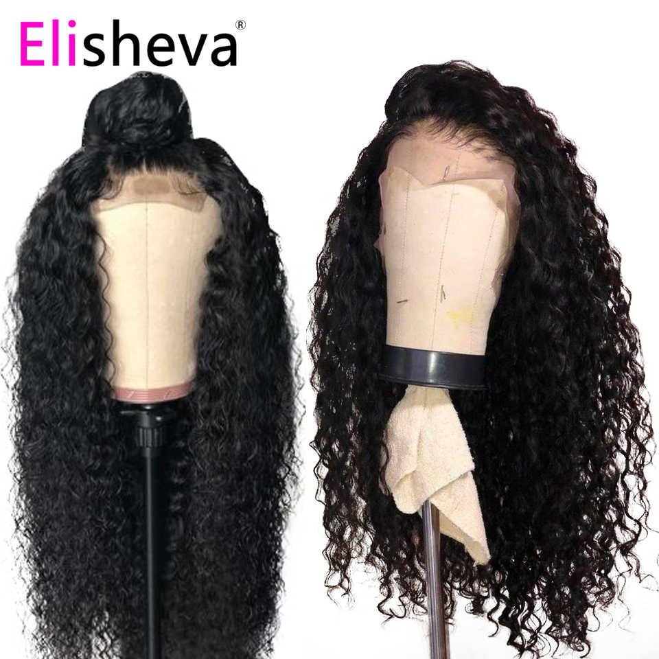 13x6 encaracolado peruca longa frente do laço perucas de cabelo humano natural malaio remy descorado nós pré arrancado glueless cor preta parte profunda