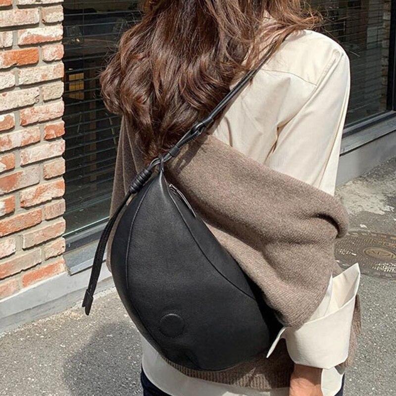 2019 Banana Bags Half Moon Shoulder Bag Ladies Soft Leather Designer Handbags Women Crossbody Messenger Dropshiping New Styles