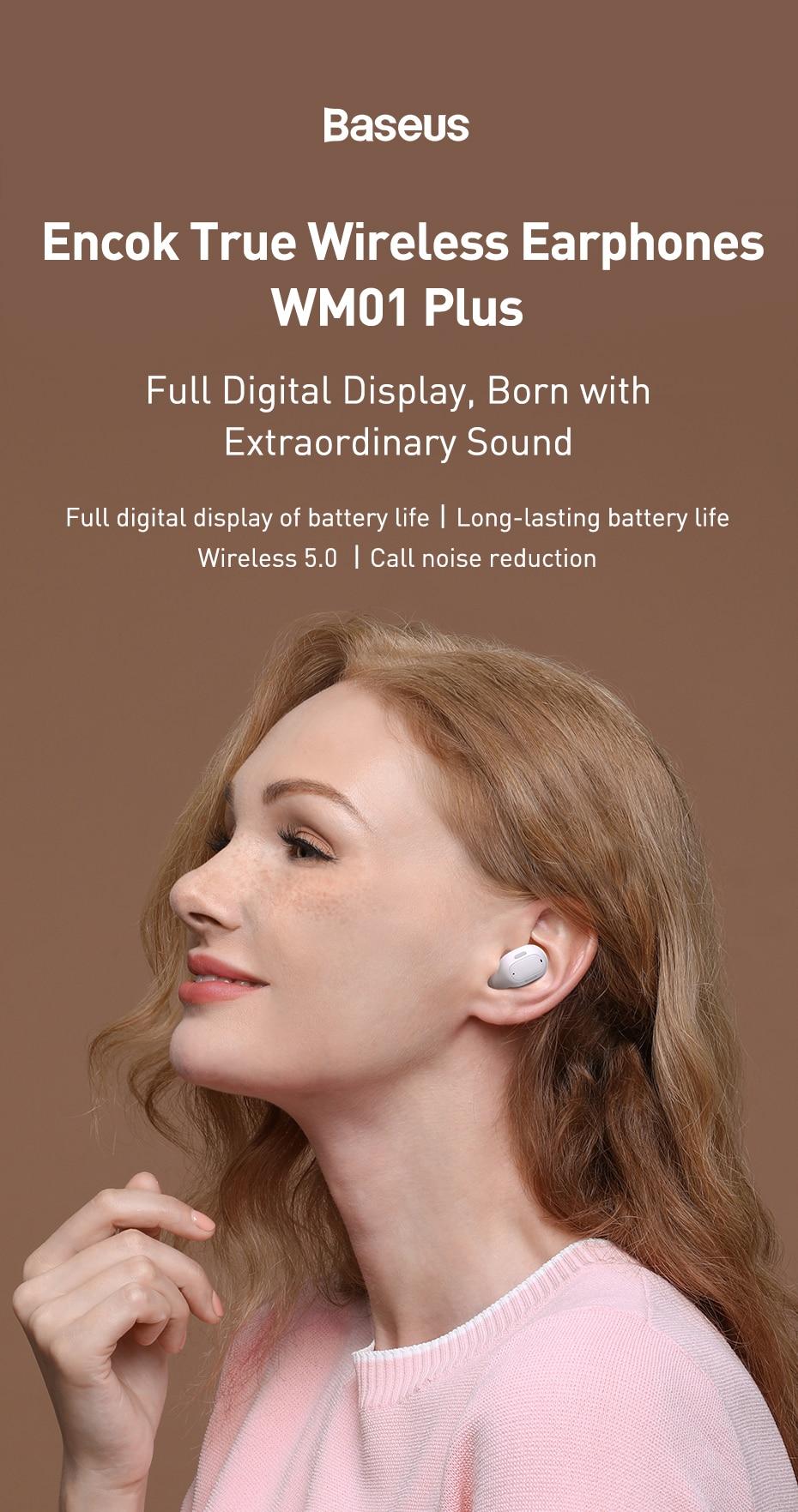 Baseus Encok WM01 Plus TWS True Wireless Earphones 3