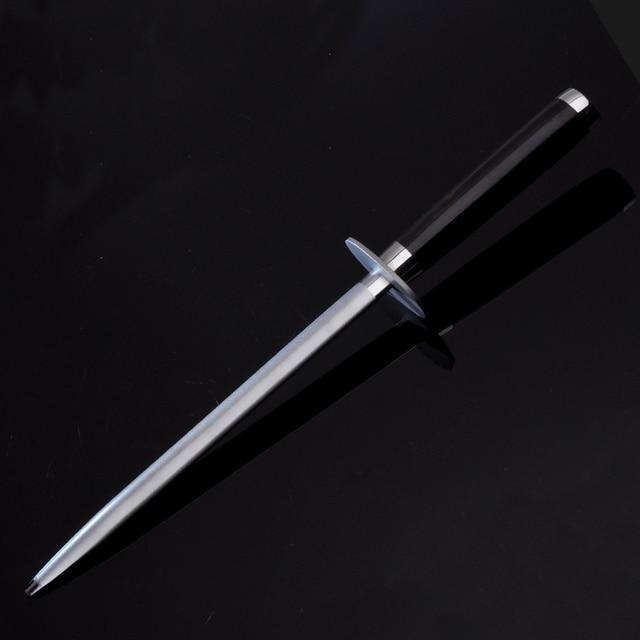 Knife Sharpening Rod Hone Diamond Steel Sharpener Grinding Stone Wetstone Kitchen Knife Accessory Ebony Handle 38