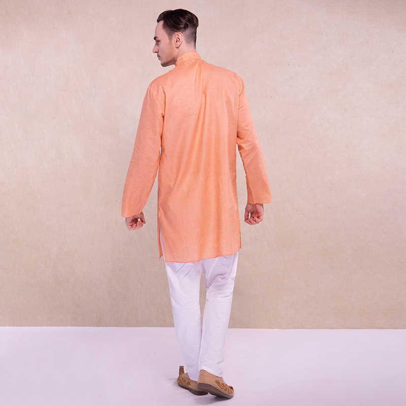 Kurtha Indio Ropa Para Hombres Kurtis Estilo Etnico Naranja Blanco Pantalones Hindu Ropa De Hombre De Algodon Kurta Disfraz De India Ropa De India Y Pakistan Aliexpress