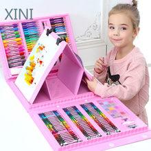 208 pçs conjunto de lápis colorido lápis lápis lápis aquarelas canetas de desenho criativo brinquedos placa canetas brinquedos & hobbies diy pintura a riscos