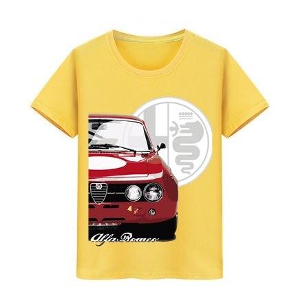 Boy Girl Tshirt Children Hop Hip Skateboard Teeshirts Teenager Surf Tops Tee Kids T-shirt Alfa Romeo Car T Shirt Unique Design