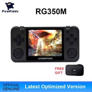 Image 1 - Powkiddy RG350M שחור כף יד משחק קונסולת 3D משחקי מתכת פגז קונסולת פתוח מקור מערכת 3.5 אינץ IPS מסך רטרו Ps1 ארקייד