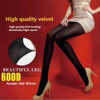 Mulheres inverno meia calças feminina justas 600D butt lift meia-calça de Veludo De Alta densidade térmica Manter quente resistente ao desgaste cintura alta emagrecimento pernas