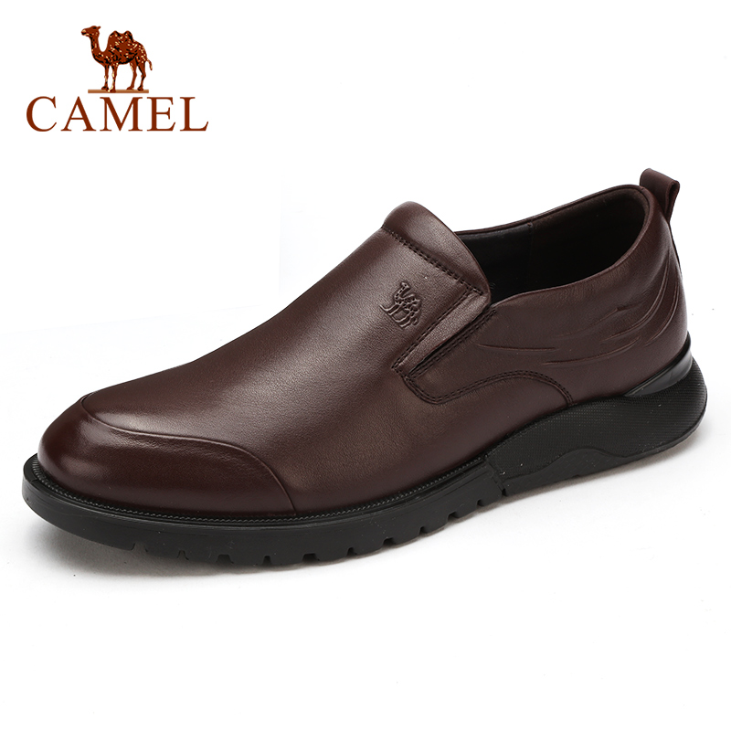 New Genuine Leather Men's Shoes Business Slip-on Casual Shoes Lightweight Soft Cowhide Men Loafers Dad Footwear