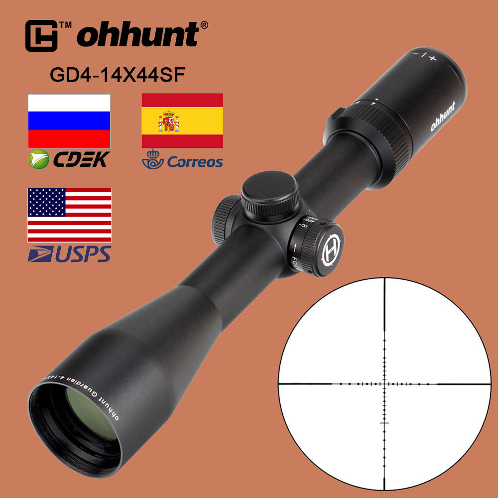 ohhunt Guardian 4-14X44 SF Tactical Optical Sight Wire Reticle Riflescope with Side Parallax Nitrogen Huting Rifle Scope