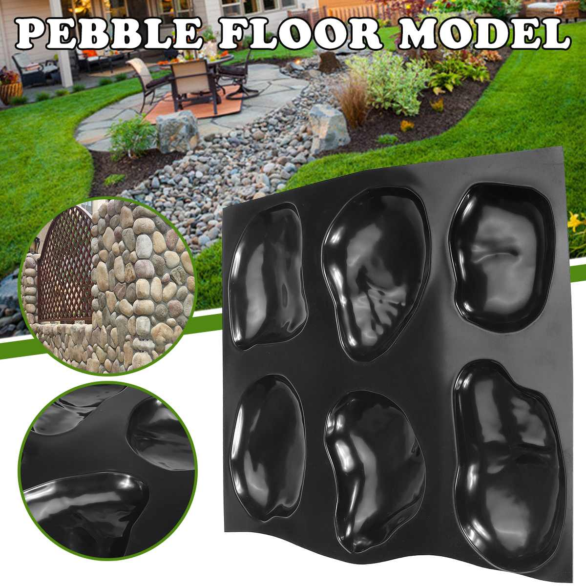 Paving Mold Path Floor Mould Garden Road Tile Stone Mold Concrete Stepping Tool