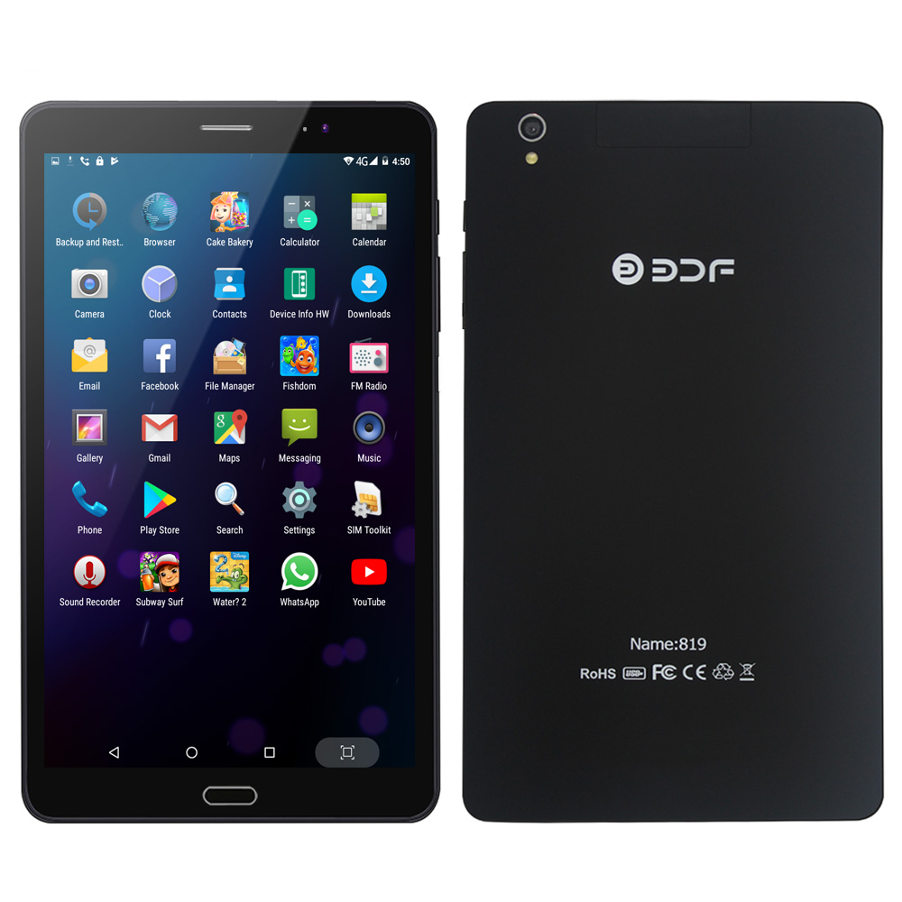8 Inch 3G 4G Mobile Phone Call And Online Internet Tablets Pc 4GB+64GB Android 7.0 5MP+2MP Duall Micro Sim Card