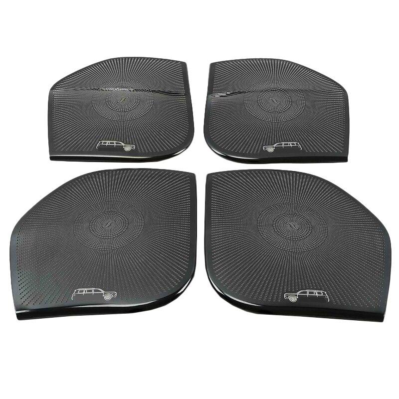 4 Pçs/set Speaker Guarnição Da Tampa Porta Do Carro para Toyota Land Cruiser 200 LC200 Fj200 2010 2011 2012 2013 2014 2015 2016 2017 2018