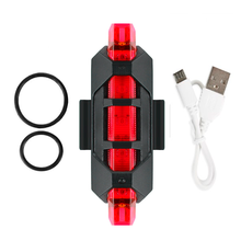 Bike Light Bicycle Taillight 5 LED Taillight Rear Tail Safety Warning Cycling Light Rechargeable Flash Light Super Bright tanie tanio Aubtec NONE CN (pochodzenie) SW165165256684899726 FRAME Baterii 2018