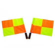 2 sztuk piłka nożna sędzia Flaga Linesman Flaga Flaga Linesman Patrol piłka nożna Flaga i Gier Szkoleniowych Offside piłka nożna Flaga z torbą