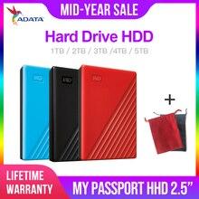 Western digital mój paszport hdd 2.5 USB 3.0 SATA przenośne urządzenia pamięci HDD zewnętrzny dysk twardy 2TB 4TB