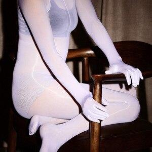 Image 1 - Ultra cienkie Porno kobiety seksowna bielizna Sheer Body całe ciało błyszczące rajstopy Sexy otwarte krocza dziewczyna wysoka elastyczna mocno kombinezon