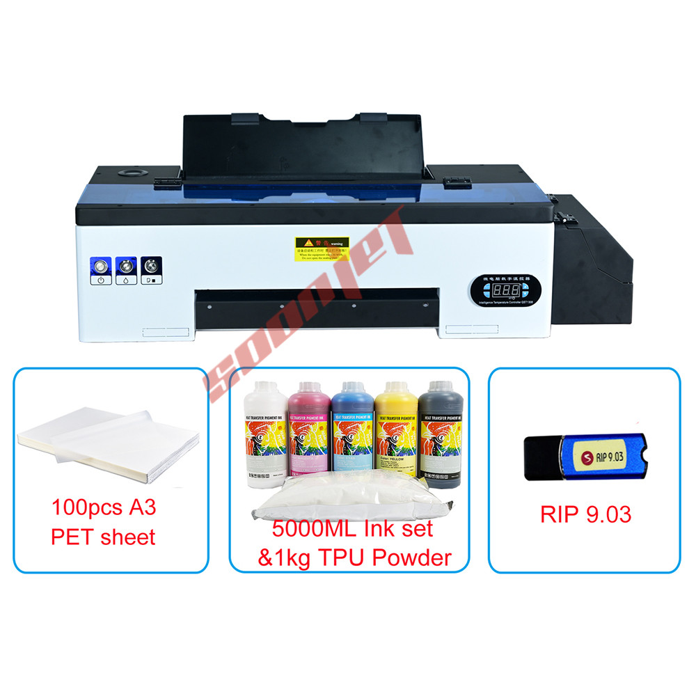 Digital A3 size for Epson L1800 DTF Printer PET Film Tshirt Printer DTF Heat Printing Machine for For Hoodies Jacket Hat Jeans