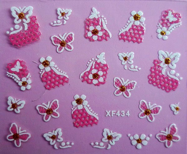 XF Nail Sticker 3D Nail Sticker Lace Nail Sticker Thousands-Selectable Recruit Agents XF434