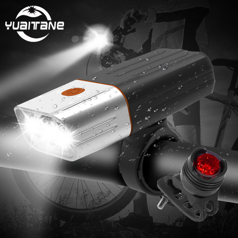 5200mAh L2//T6 LED MTB Road Bike Bicycle Light Front Headlight USB Rechargeable