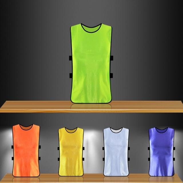 Adult/Child Football Soccer Kid Team Sports  Training Pinnies Jerseys Outdoor Quick-dry Breathable Training Bib Vest
