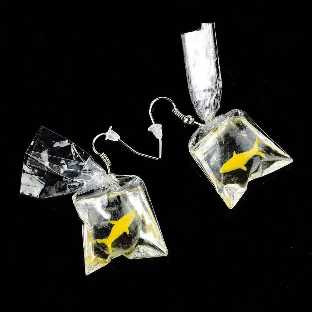 Goldfish Water Bag Earrings 3
