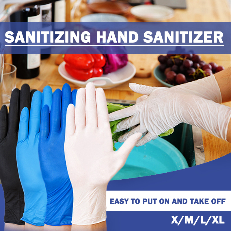 5 Colors 100pcs Disposable Gloves Latex Universal Kitchen/Dishwashing/ /Work/Rubber/Garden Gloves For Left And Right Hand