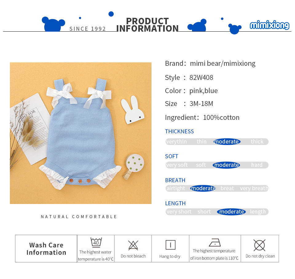 Baby Girls Sleeveless Bodysuits 3