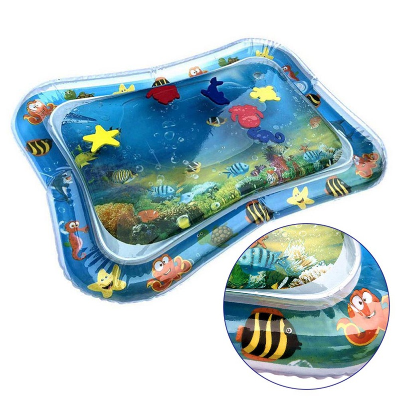 1Pcs Baby Kids Water Play Mat Inflatable Infant Summer Play Mat Toddler For Baby Fun Activity Play Center Dropship