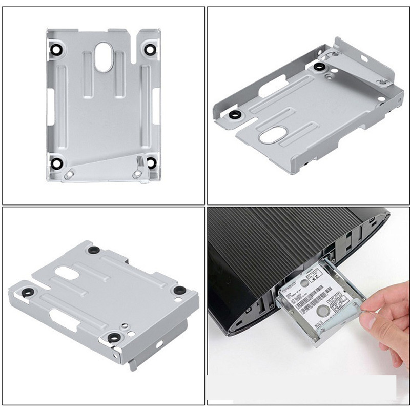 Hard Disk Drive Bays Base Tray HDD Mounting Bracket Support For Sony Playstation 3 PS3 PS 3 Super Slim 4000 With Screws New